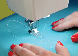 Laisvo siuvinėjimo – kviltingo funkcija